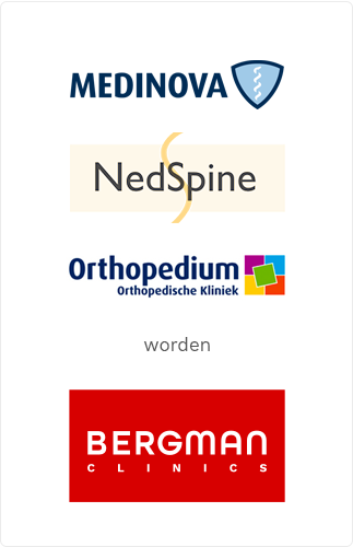 Medinova, Nedspine en Orthopedium worden Bergman Clinics